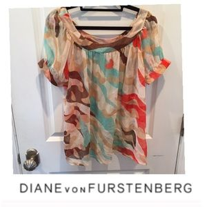 Diane Von Furstenberg Silk Sheer Top